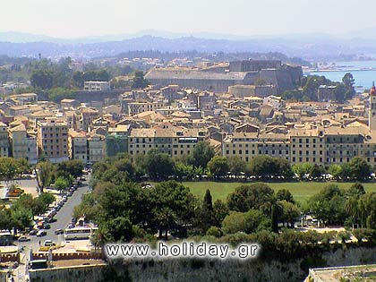 Panoramic view of Corfu town