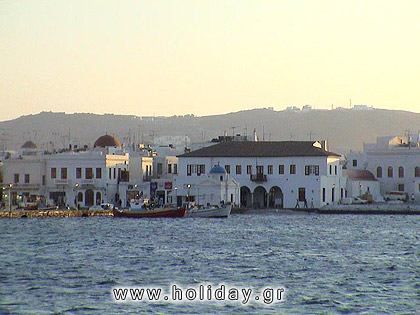 The most famous island of the Cyclades