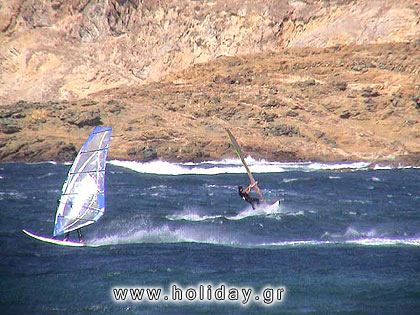 Ftelia: the perfect beach for windsurfing