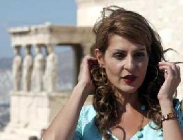 Nia Vardalos and her new movie in Acropolis