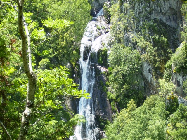 Waterfall of Leibaditis. The first.