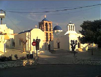 Kostos square and churches