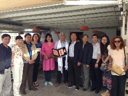 Delegation of leading Chinese journalists at Santorini and Milos